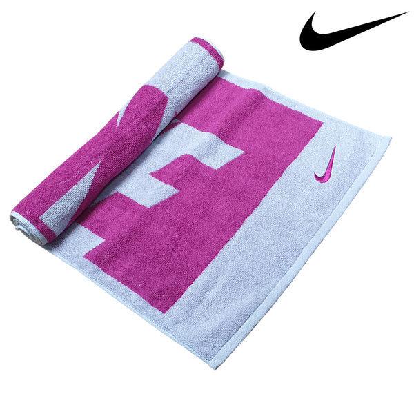 나이키 스포츠타올 자카드 핑크 M 수건 비치타올 상품이미지