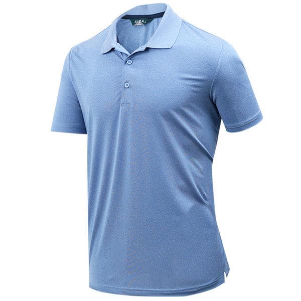 남성 베이직 카치온 스판 골프 카라 반팔티셔츠 상품이미지