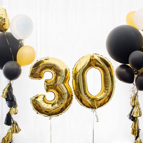 이벤트 생일 파티 기념일 100일 숫자 풍선 골드 40cm 상품이미지