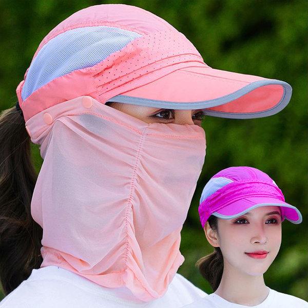 봄 여름 자외선 차단 모자 마스크 썬캡 차단 모자 캡 상품이미지