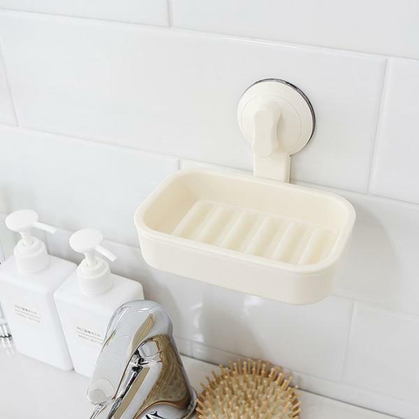 욕실 무타공 벽부착 2중 진공 흡착 비누 받침대 상품이미지