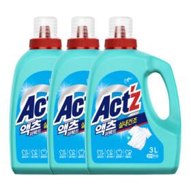 액체세제 액츠 퍼펙트 실내건조 3.2L 일반용 3개
