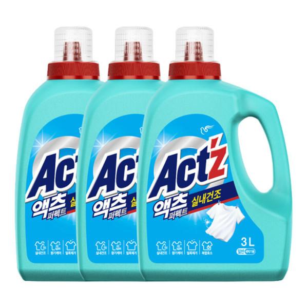 액체세제 액츠 퍼펙트 실내건조 3.2L 일반용 3개 상품이미지