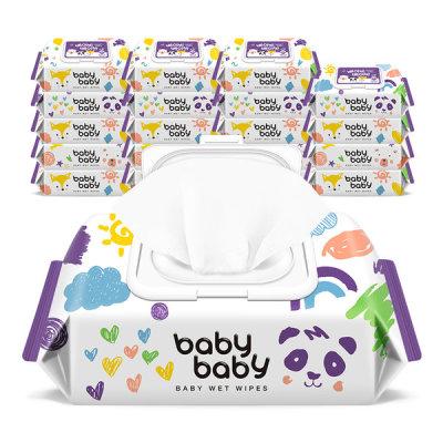 babybabywetwipe/wetwipe/babybabywettissue/wettissue/wetpaper/daily/43gsm/110sheets/plain/20pack