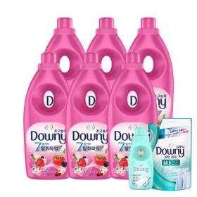 다우니 핑크 1L 베리베리와 바닐라크림 향 6개
