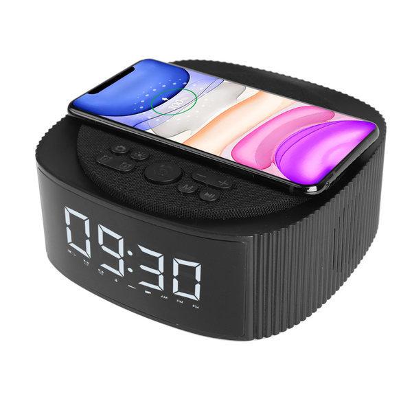 블루투스 스피커 탁상 시계 고속 무선 충전기 상품이미지
