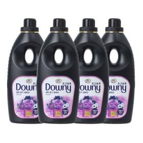 다우니 퍼퓸 블랙 미스티크 향 1L 4개
