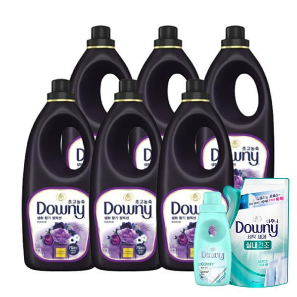 다우니 퍼퓸 블랙 미스티크 향 1L 6개 +사은품 상품이미지