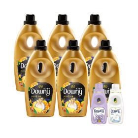 다우니 섬유유연제 퍼퓸 샤인 향 1L 6개 +사은품