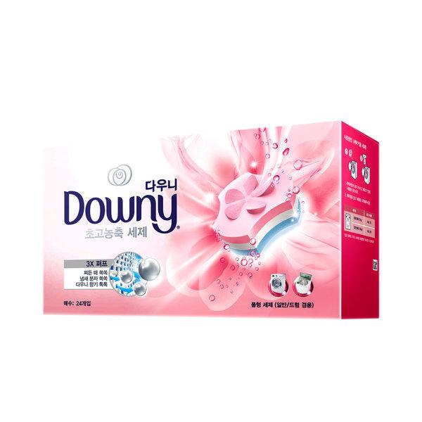 다우니 프리미엄 폼형 세제 핑크 24개입 상품이미지