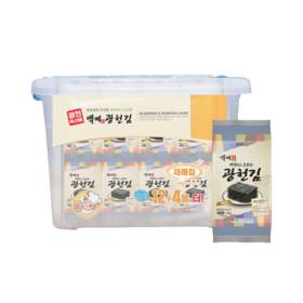 백제광천김 재래 도시락김4g 32봉+리빙박스