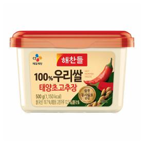 해찬들 우리쌀로만든 태양초 골드고추장 500G/ 1개