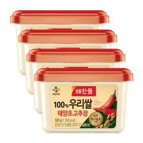 해찬들 우리쌀로만든 태양초 골드고추장 500G/ 4개