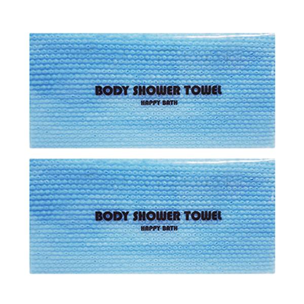 일회용 샤워타올 블루(비닐포장)  거품타올/바디스폰지 상품이미지