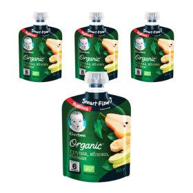 오가닉 파우치 2단계 배 사과 바나나 3+1(총 4개)