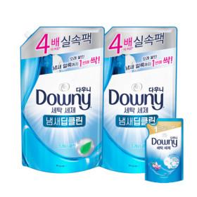다우니 프리미엄 액체형 세탁세제 블루 1.8L 2개