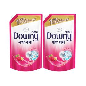 다우니 프리미엄 액체형 세탁세제 핑크 1.8L 2개