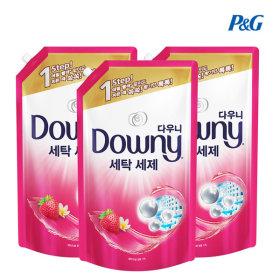다우니 프리미엄 액체형 세탁세제 핑크 1.8L 3개