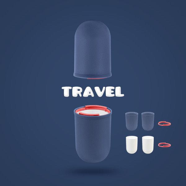 여행 욕실 사무실 위생적인 칫솔치약보관 4PCS 양치컵 상품이미지