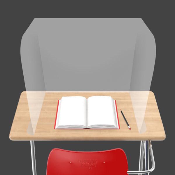 투명 가림판 대大 10개입 책상 급식실 가림막 칸막이 상품이미지