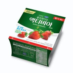 다논 액티비아 요거트(컵/딸기) 80g x 4입