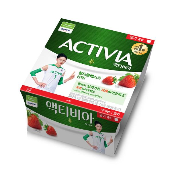 다논 액티비아 요거트(컵/딸기) 80g x 4입 상품이미지