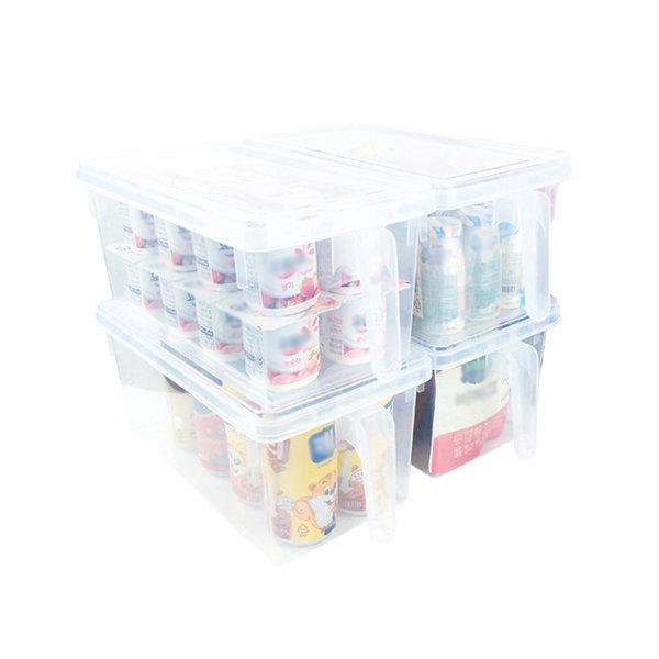 4개입 냉장고정리용기트레이 냉장고냉동실정리함 상품이미지