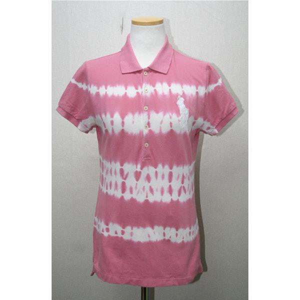 폴로 핑크색의 빅포니 나염카라반팔티/size55 상품이미지