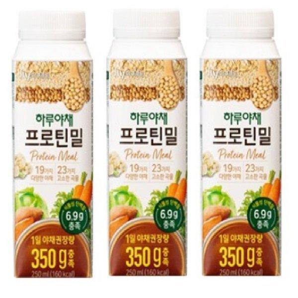 한국야쿠르트 하루야채프로틴밀 250mlx3 상품이미지