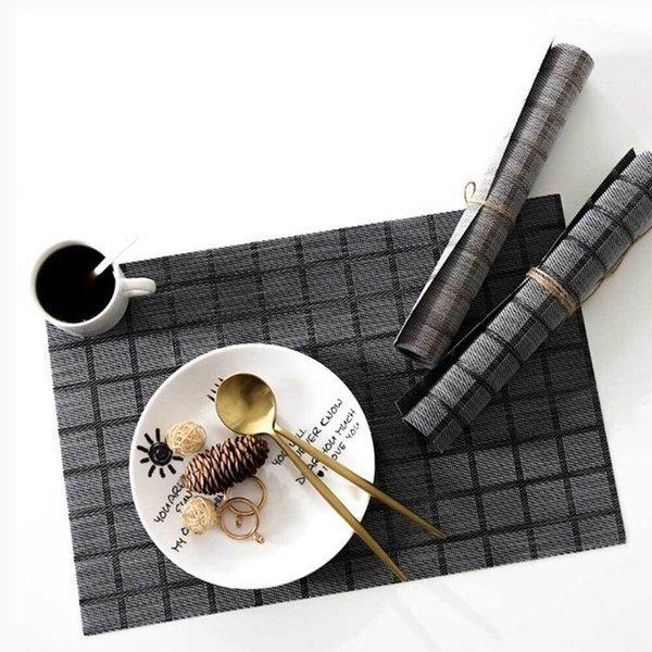 모던 체크 식탁매트/테이블 방수 받침 매트 깔개 예쁜 상품이미지