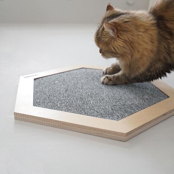 고양이 육각 스크래쳐 벽걸이 + 평판형 알로캣 캣타워 상품이미지