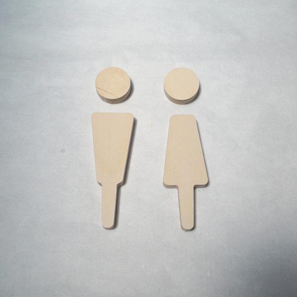 자작나무 화장실 도어사인 표지판 안내판 남여 표시 상품이미지