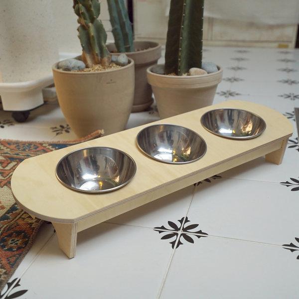 고양이 밥그릇 원목 알로캣 3구 식기 상품이미지