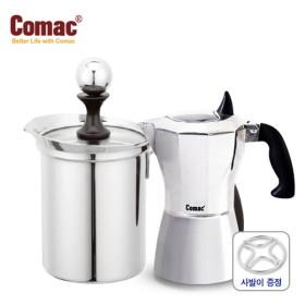 [코맥] 모카포트 홈카페 2종 (E1/S7)+사발이 [에스프레소 커피메이커/카푸치노/커피용품]
