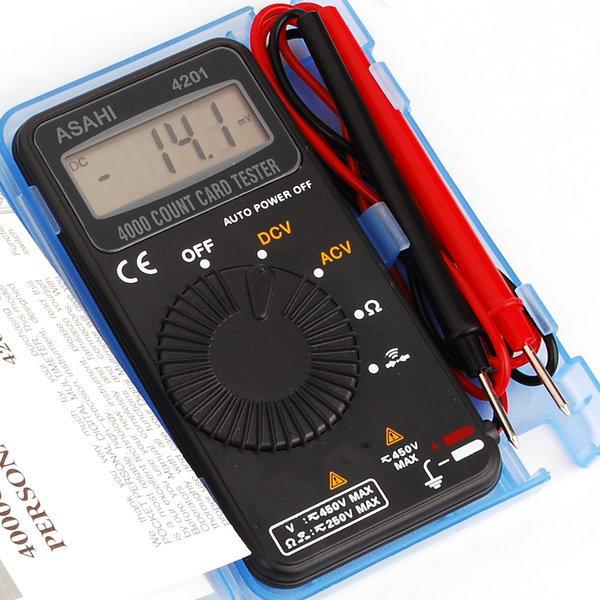 국산 아사히 4201 포켓테스터기 디지털 멀티 테스터기 상품이미지