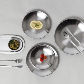 스타일플레이트 원형접시 4호(2P)/ 스텐접시 그릇