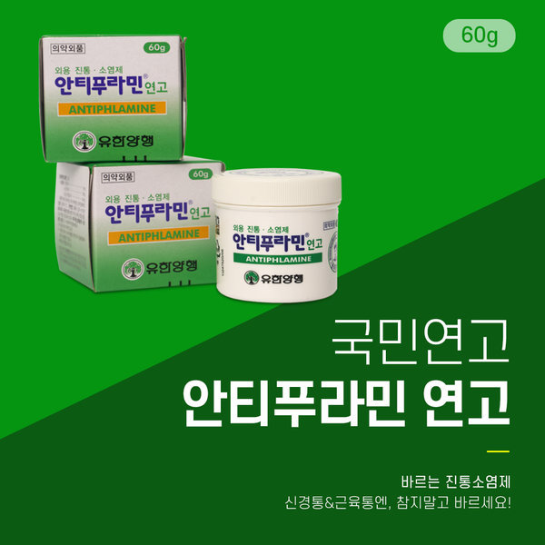 안티푸라민 연고 60g 근육통 진통 소염제 유한양행 상품이미지