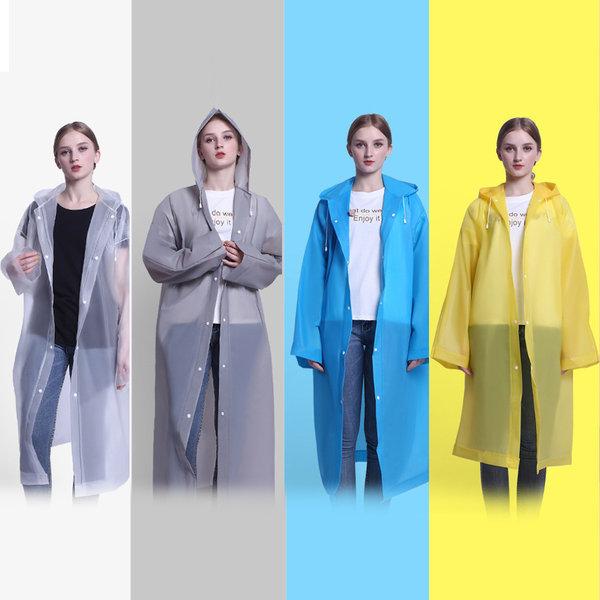 EVA 우비 고급형 휴대용 남녀공용 우의 비옷 레인코트 상품이미지