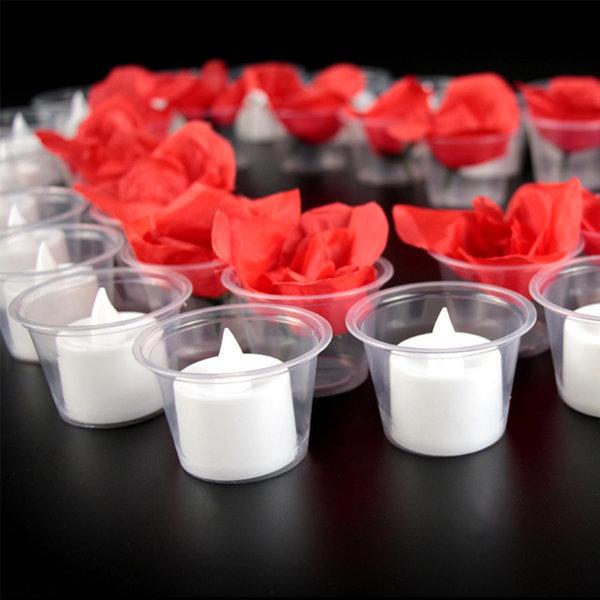 LED촛불 투명컵 티라이트 캔들 컵 프러포즈 이벤트 상품이미지