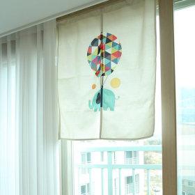 가리개커튼 바란스 거실 창문 커튼 오색풍선(대)