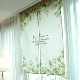 가리개커튼 바란스 거실 창문 커튼 플라워(소)