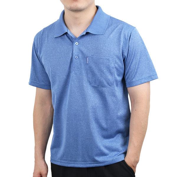 파크타운 여름 베이직 보카시 쿨 반팔 카라 티셔츠 상품이미지
