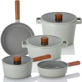 IH full induction pot frying pan 5 kinds set of pot set