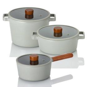 IH full induction pot frying pan 3 kinds set of pot set