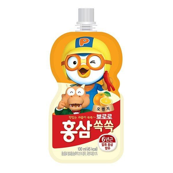 메가커피 뽀로로 홍삼쏙쏙 오렌지 100ml 상품이미지