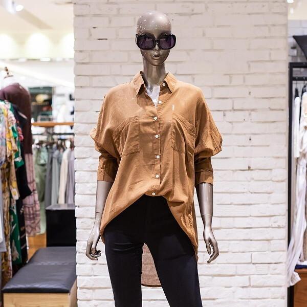 제시뉴욕  브라운 셔츠형블라우스BA65NLBC1500 상품이미지