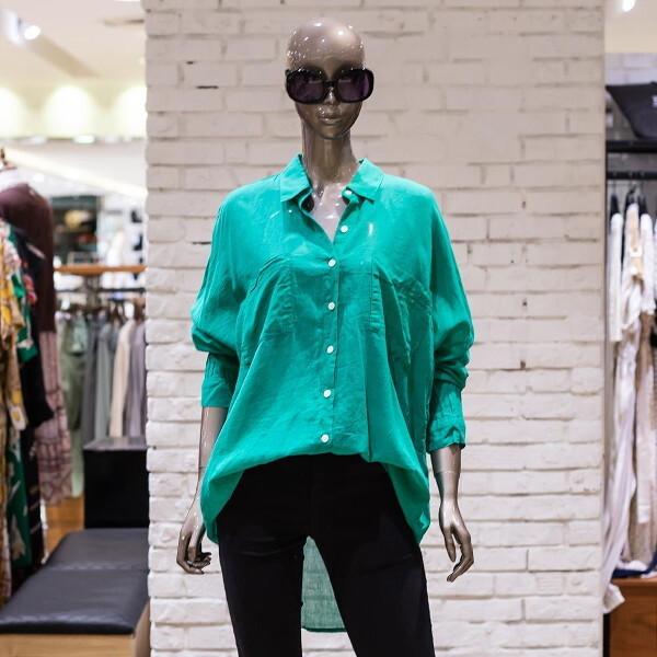 제시뉴욕  그린 셔츠형블라우스BA65NLBC1500 상품이미지