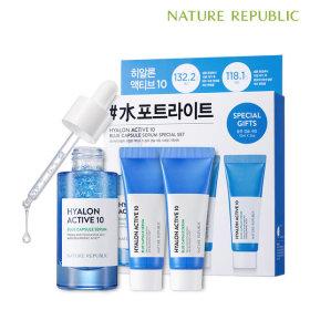 Nature Republic Hyalon Active 10 Blue Capsule Serum Special Set/Toner/Skin