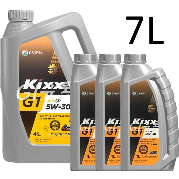 킥스 Kixx G1 5W-30 4L 1개+1L 3개 합성 엔진오일 SP 상품이미지