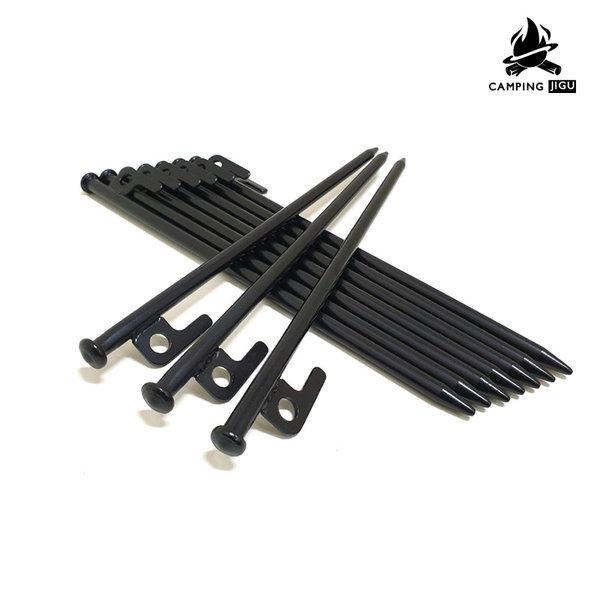 강철 단조팩 텐트팩 타프팩 캠핑팩 지주팩 30cm 블랙 상품이미지